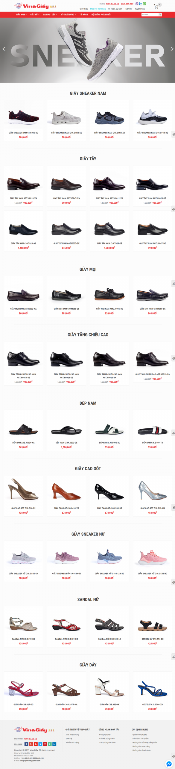website bán dày dép