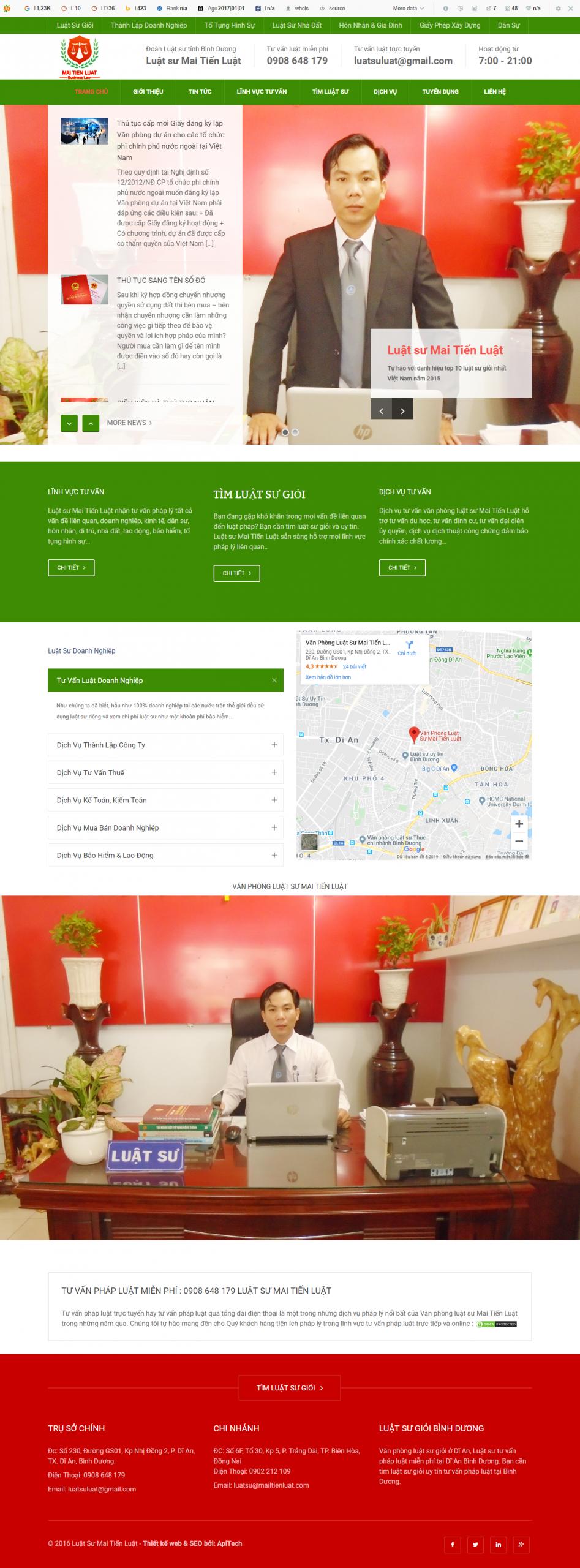website giới thiệu công ty