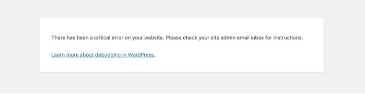 cách khắc phục lỗi nghiêm trọng trên website wordpress